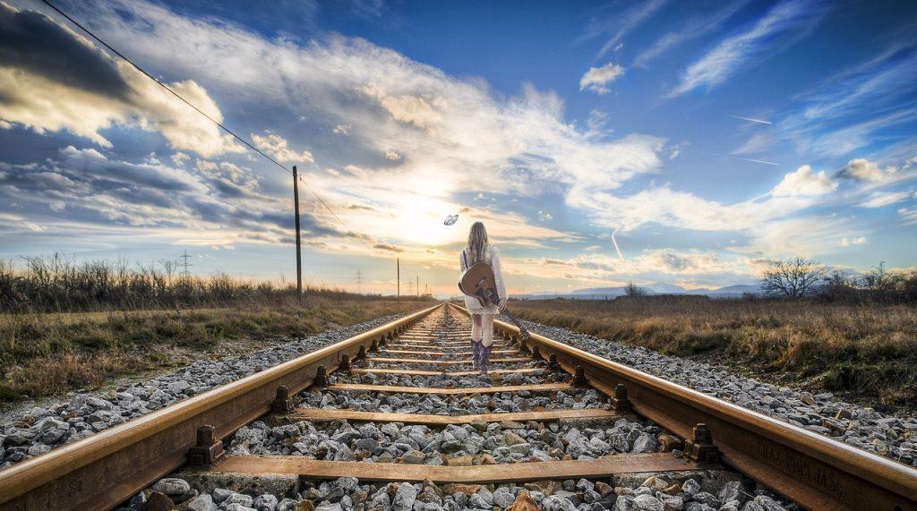 孤独で戦う女性