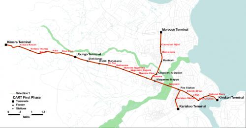 BRTの路線図