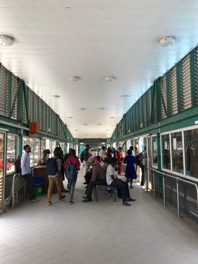 BRTの駅の中