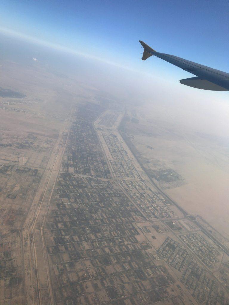 アブダビ住宅街上空